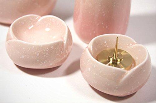 仏具■限定■陶器 5具足セット【やわらぎ】モダン仏具■さくら