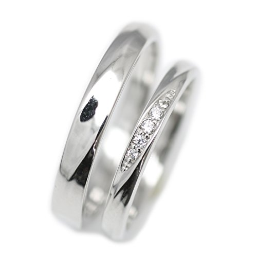 [해외][코코카루] cococaru 페어링 플래티넘 다이아몬드 반지 Pt900 메리지 링 2 개 세트 결혼 반지 일제 천연 다이아몬드/[CocoCal] cococaru pairing platinum diamond ring Pt 900 marriage ring 2 set wedding ring made in Japan natural diamond