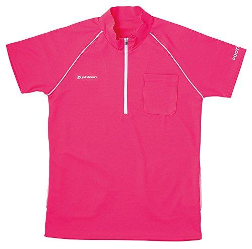 フットマーク 介護ウェア ジップアップシャツ ピンク LL