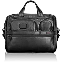 Tumi Alpha 2 Expandable Organizer Laptop Leather Brief