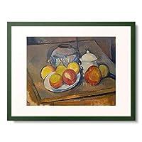 ポール・セザンヌ Paul Cézanne 「Vase, apples and sugar bowl.」 額装アート作品