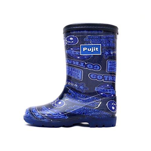 Pujit プジット キッズ ジュニア レインブーツ 【カラー:ブルー】 (19.0cm)