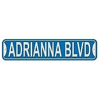 アドリアナ大通り - 青 - プラスチック壁符号