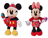 ディズニー ミッキーとミニーマウス ホリデープラッシュ ミニビーンバッグ 2個セット