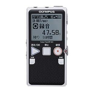 OLYMPUS ICレコーダー VoiceTrek 2GB 単4電池2本使用 BLK ブラック DP-301