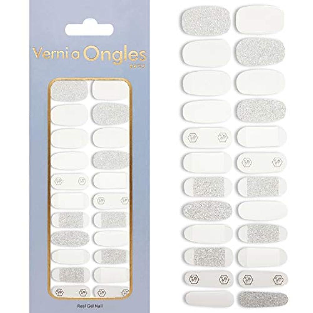 合法従順微視的Verni a Ongles ヴェルニアオングルス リアルジェルネイルステッカー V-78 (ネイルステッカー22枚・ネイルファイル1個付)
