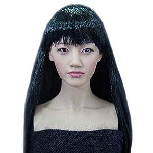 NuoYamy 1:6KUMIKアクセサリアクションフィギュアCG CYガール女性の頭はVer.4.01の塗装します。 KM38