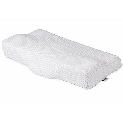 KUMFI 枕 横向き枕 低反発 まくら いびき防止 快眠 安眠 枕カバー ロング 通気性 頚椎・首・頭をやさしく支える健康枕 ストレートネック 肩こり対策