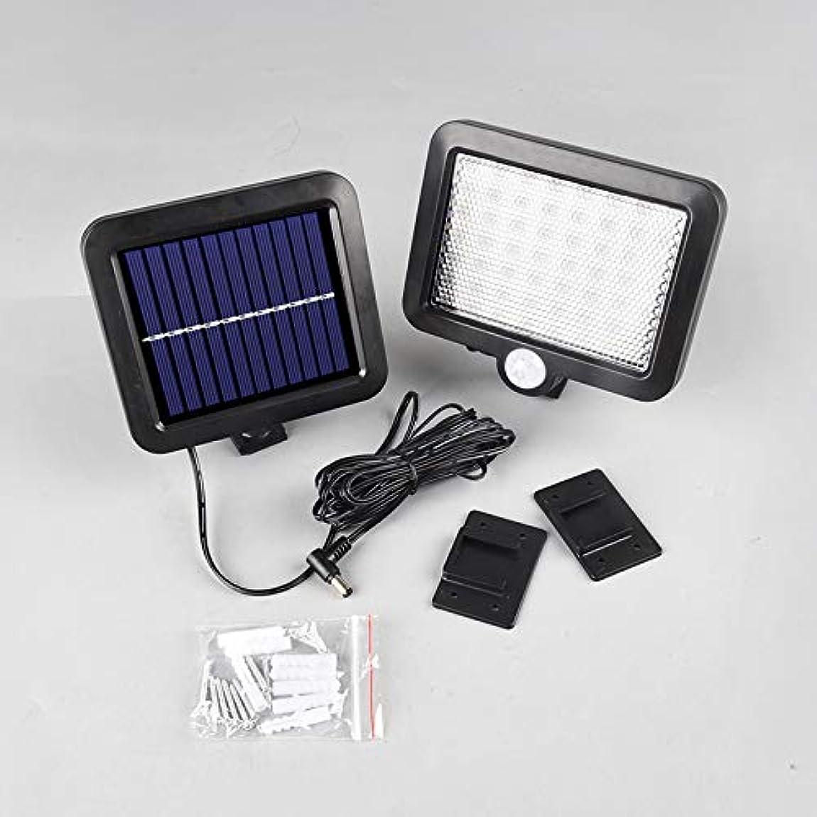 封筒争うアイドルフロントドアヤードポーチパティオガレージ用ソーラー安全光黒太陽ドア光屋外56 LEDソーラー壁ライト5500mAhの電池容量