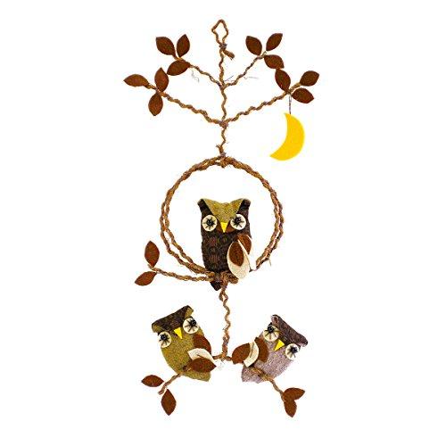 オリムパス製絲 パッチワークキット つるし飾り 月とふくろう とまり木 PA456