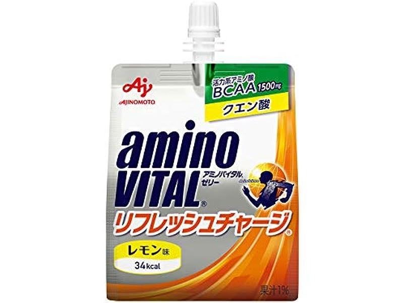 口述泥楽な味の素 アミノバイタルゼリー リフレッシュチャージ180gパウチ×30本入×(2ケース)