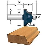 Bosch 85271M 1/4 In. x 3/4 In. Carbide Tipped Roman Ogee Bit [並行輸入品]