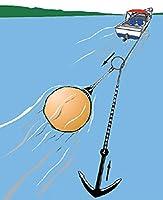 "AnchorLiftアンカーPuller withブイ 11"" Buoy, 30lb lift イエロー"