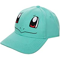 Bioworld Pokemon Squirtle Face Cosplay Character Snapback Cap Hat Licensed Blue