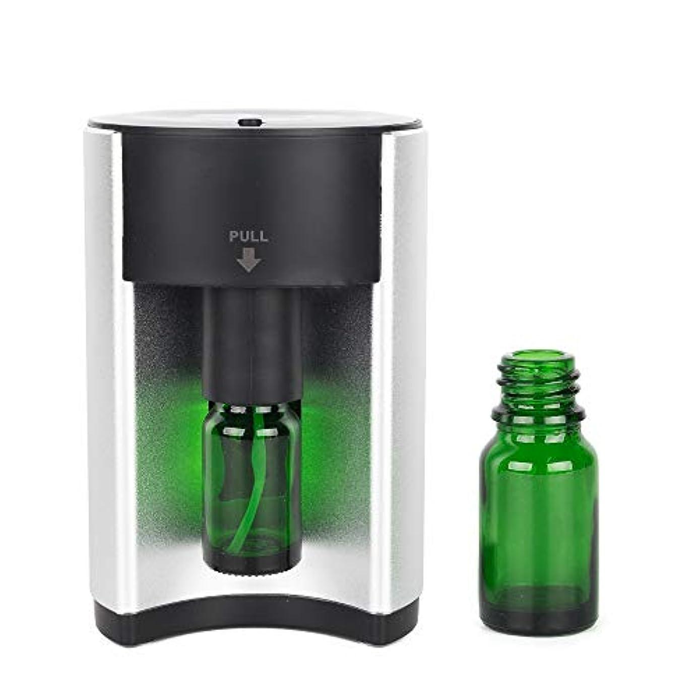 踏み台濃度振り向くアロマディフューザー アロマ 芳香器 (GT-SH-S1)アロマオイル ネブライザー式 アロマポット usb コンセント 小型 香り おしゃれ 可愛い シンプル 軽量 卓上 シンプル スマート 水を使わない オイル別売り