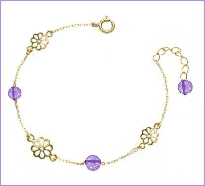 [해외]여자 구두 여성   자수정   자수정   꽃   부품   하트   자수정   퍼플   여자 구두 여성   탄생석   원석   선물   포장   20 + 3cm   21 + 3cm   22 + 3cm/Anklet woman   amethyst   purple crystal   flower   parts   heart   amethyst   purp...