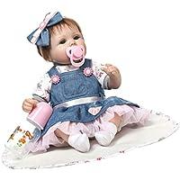 Baoblaze 42cm デニムドレス コスチューム 新生児女の子人形 幼児おもちゃ 贈り物