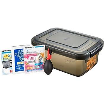 HAKUBA ドライボックスNEO 5.5L + 乾燥剤 + 他メンテナンス用品3点セット防湿庫 HTMB-YM