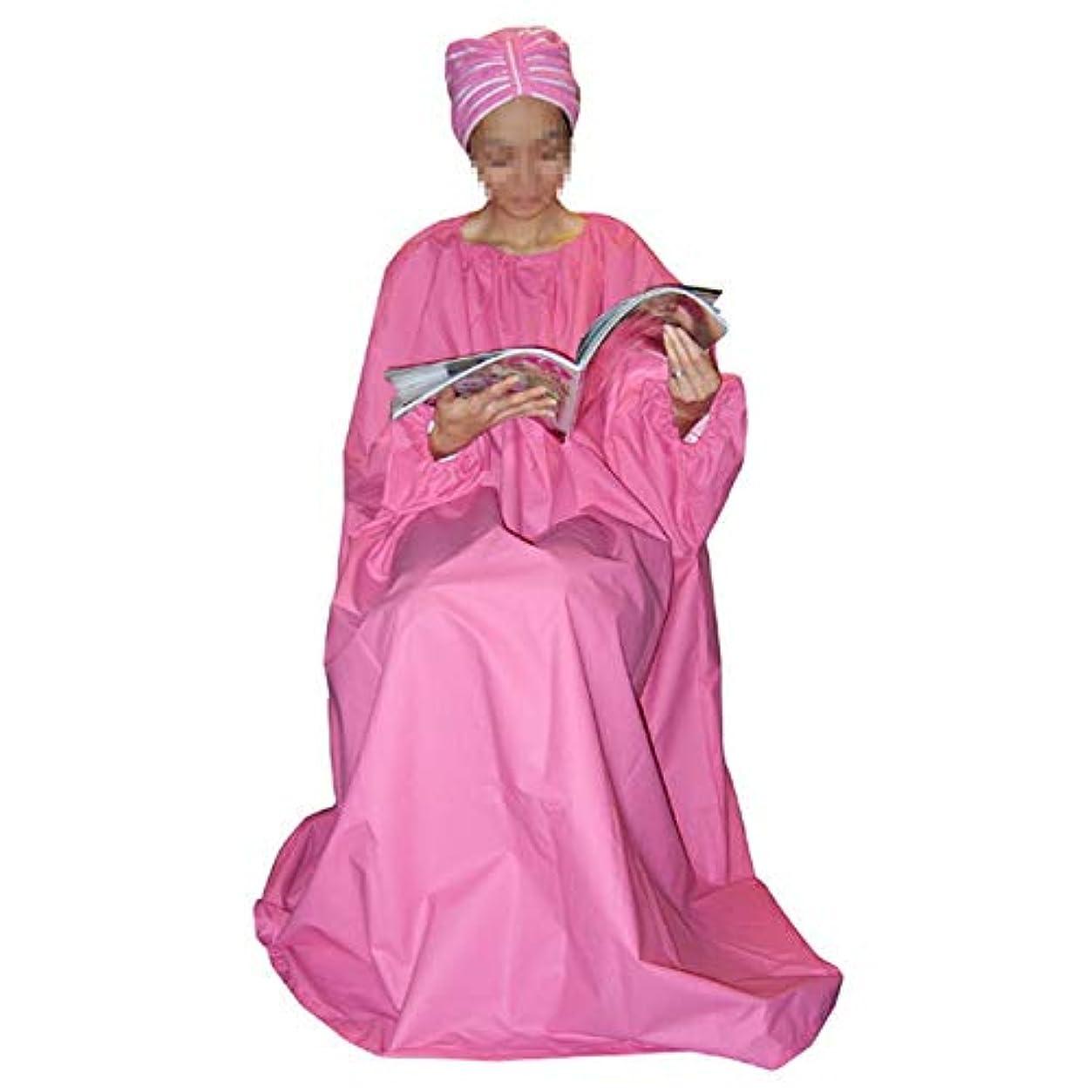 意識的女性忠実に韓国よもぎ蒸し用マント 袖付きガウン サロン仕様 透けない厚いタイプ 100%防水生地
