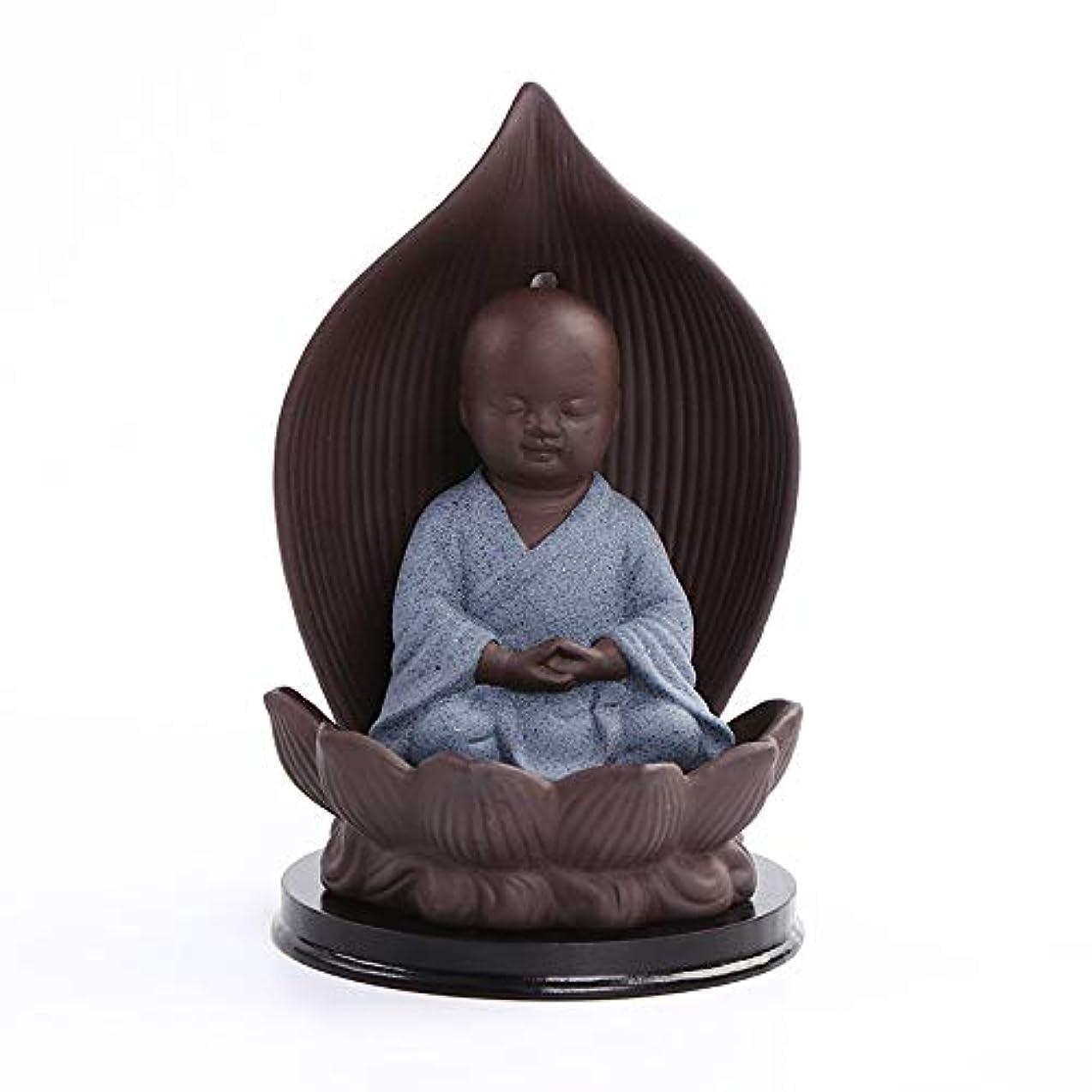 するクラックフォームセラミック香炉バッキングブラケット磁器仏教僧mon仏炉香スティックフレーム工芸ギフトバーナー9 * 15センチ
