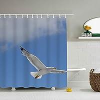 肌のツヤを保つ 保温 保湿 防水 防カビ シワ防止 加工 シャワーカーテン かもめ カーテン リング ユニットバス バスルーム お風呂に最適