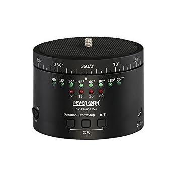 Sevenoak SK-EBH01 PRO 自動回転雲台 「タイムラプス」 三脚自由雲台 IPhone 6 Plus, GOPRO, Canon/Nikon/Sonny/Pentax DSLR 対応(日本語マニュアル付き)