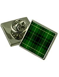 タータンチェックの CLAN マッカーサーシルバー 925 ラペルピンバッジ