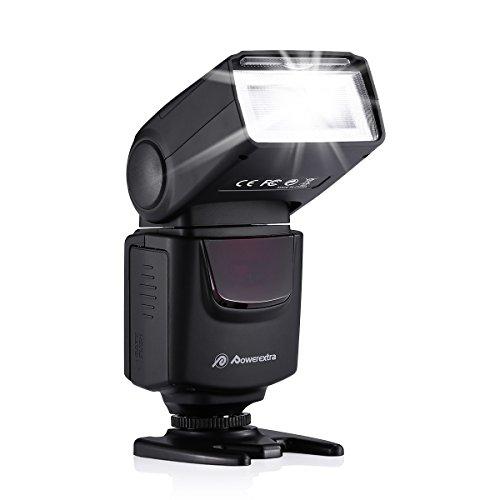 Powerextra フラッシュ・スピードライト フラッシュ ストロボ スピードライト カメラ 一眼レンズカメラ専用 Canon Nikon Pentax Fujifilm Olympusなど対応可 DF-400