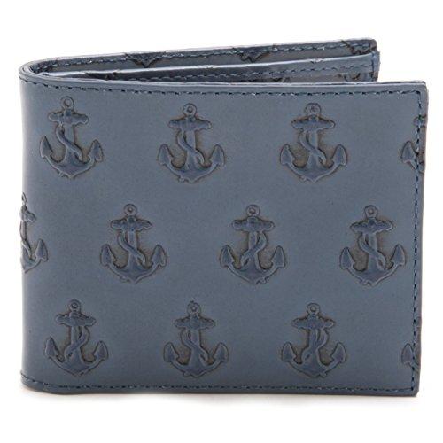 (ジャックスペード) JACK SPADE mebossed anchor cc case 二つ折り財布 イカリ アンカー メンズ BLUE [並行輸入品]
