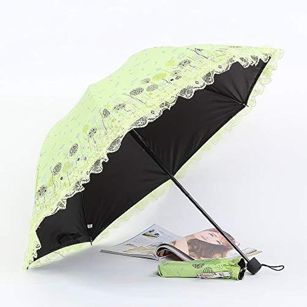 動機屋内渦Kimiper 日傘 折りたたみ傘 レース傘 UVカット 100 遮光 遮熱 晴雨兼用 8本骨 超軽量 レディース 刺繍 花柄 シンプル