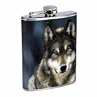 ウルフフラスコd88オンスステンレススチールWolves Wilderness動物犬Predatorハンター