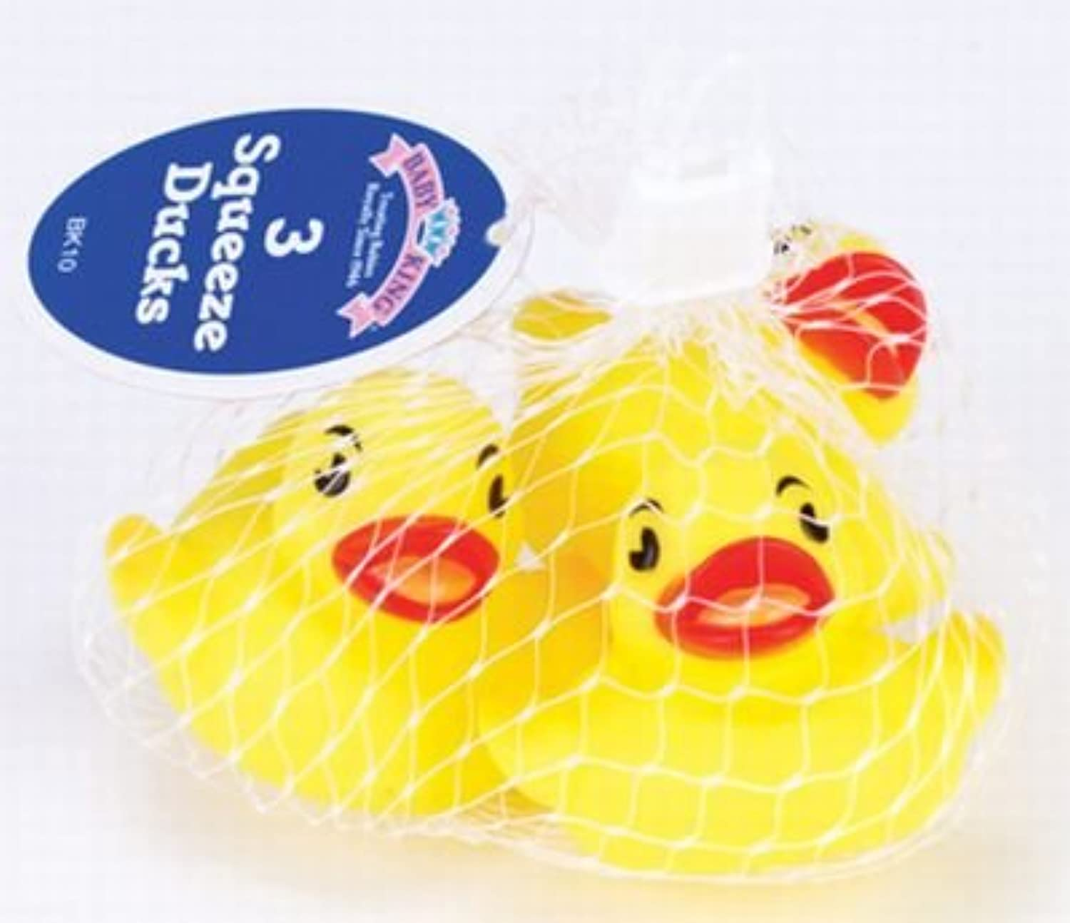 Baby King Bath Squeeze Toy - Set of Three (3) Play Ducks by Baby King