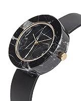 アナログWatch Co。ユニセックスブラック大理石円Mason watch