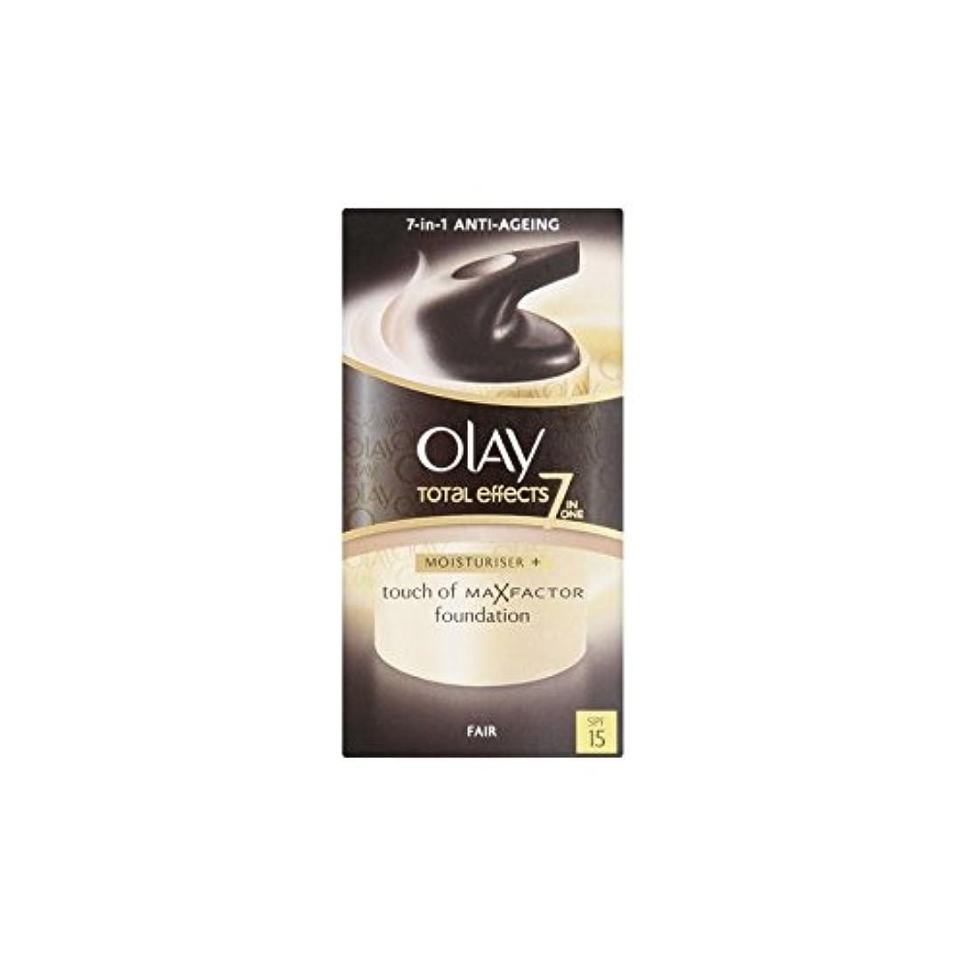 学校理容師中傷Olay Total Effects Moisturiser Bb Cream Spf15 - Fair (50ml) (Pack of 6) - オーレイトータルエフェクト保湿クリーム15 - フェア(50ミリリットル...