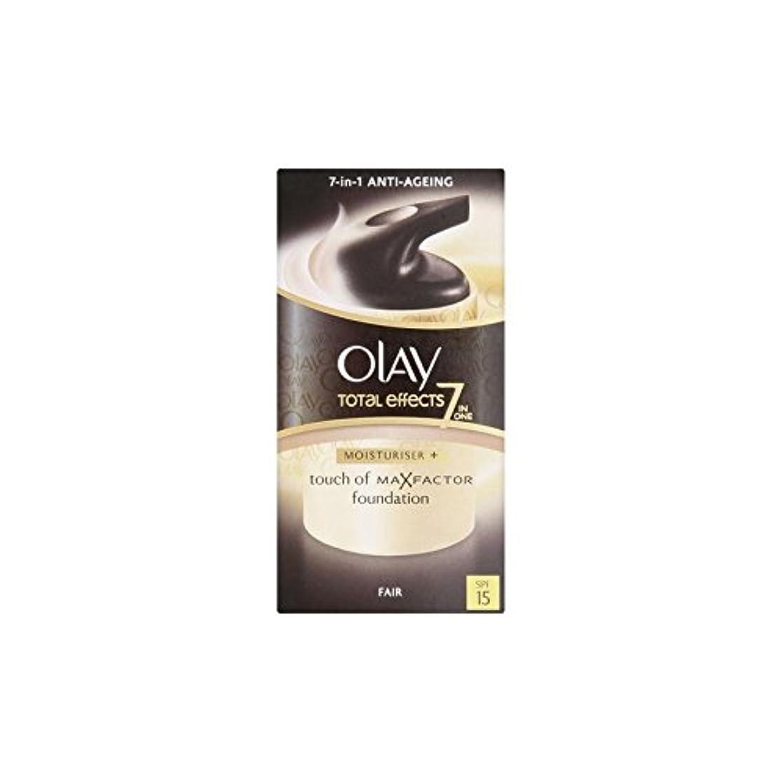 程度期限切れ貪欲オーレイトータルエフェクト保湿クリーム15 - フェア(50ミリリットル) x4 - Olay Total Effects Moisturiser Bb Cream Spf15 - Fair (50ml) (Pack of...