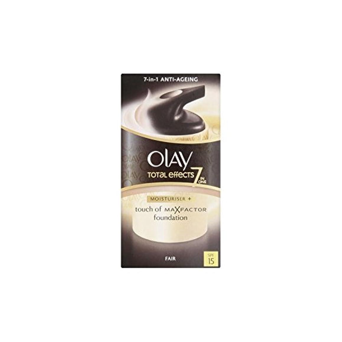 はず縫う細断オーレイトータルエフェクト保湿クリーム15 - フェア(50ミリリットル) x2 - Olay Total Effects Moisturiser Bb Cream Spf15 - Fair (50ml) (Pack of...