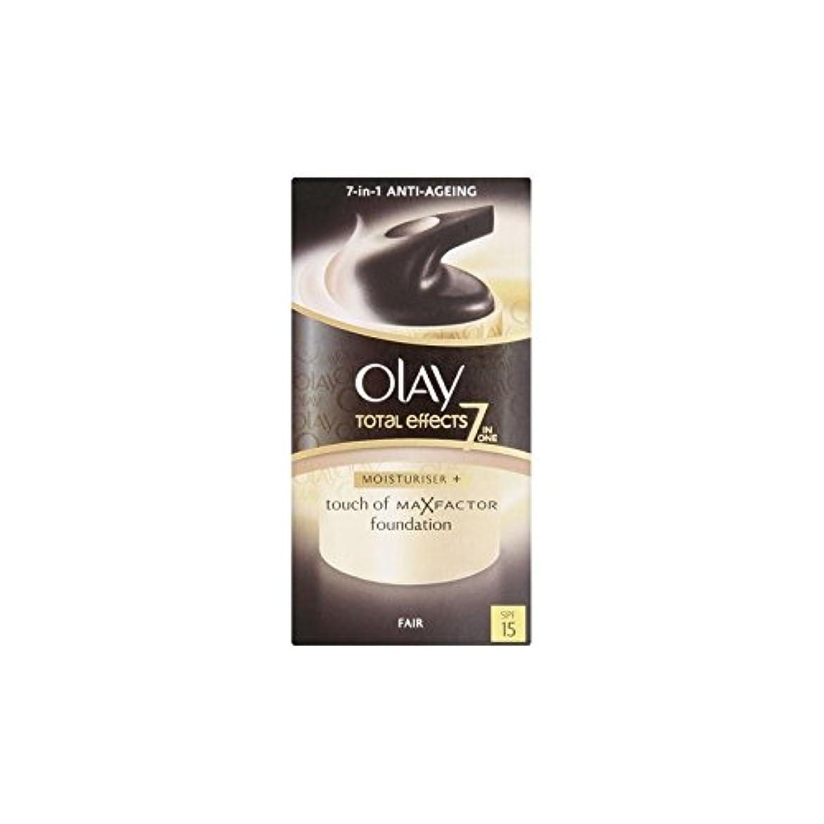 電話タイル指オーレイトータルエフェクト保湿クリーム15 - フェア(50ミリリットル) x2 - Olay Total Effects Moisturiser Bb Cream Spf15 - Fair (50ml) (Pack of...