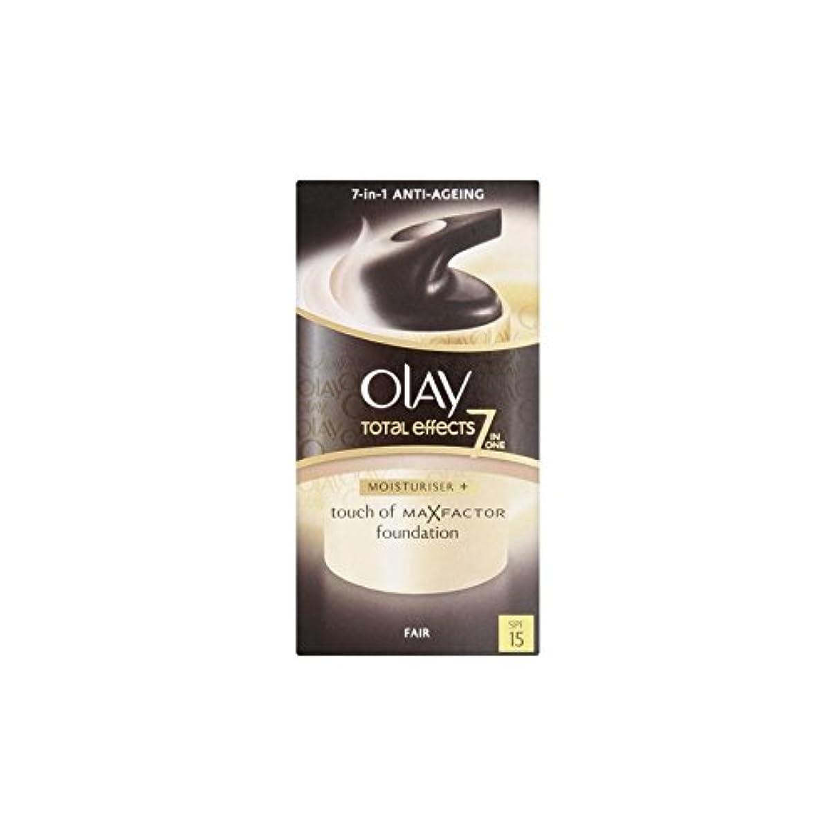 強打怠けた仕立て屋オーレイトータルエフェクト保湿クリーム15 - フェア(50ミリリットル) x2 - Olay Total Effects Moisturiser Bb Cream Spf15 - Fair (50ml) (Pack of...