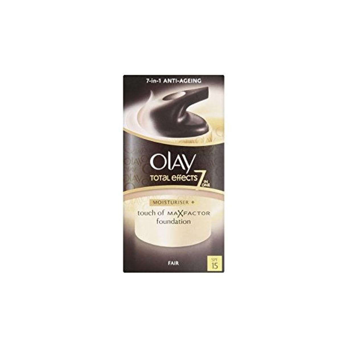 奴隷起きろ逆にオーレイトータルエフェクト保湿クリーム15 - フェア(50ミリリットル) x4 - Olay Total Effects Moisturiser Bb Cream Spf15 - Fair (50ml) (Pack of...