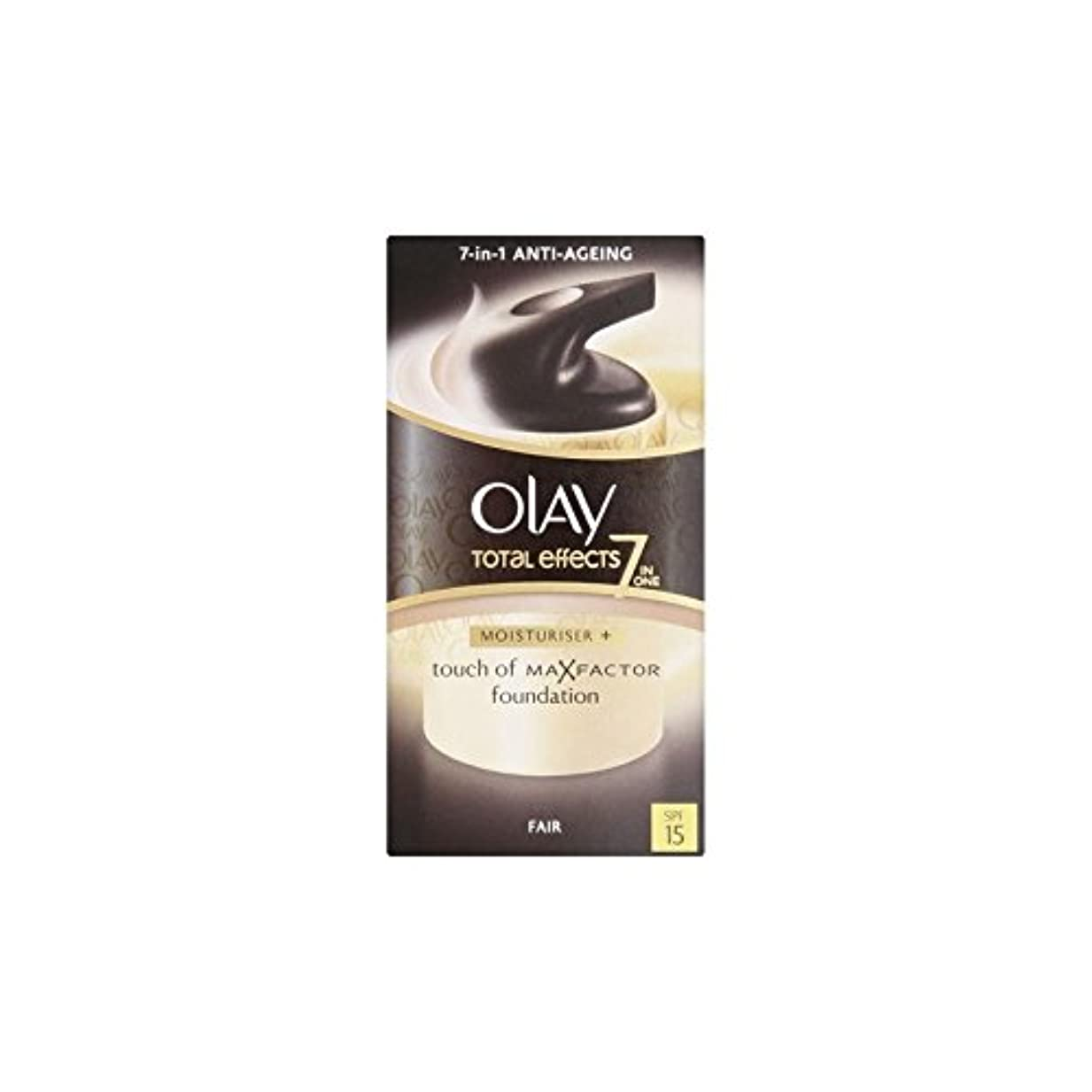 スモッグクーポン差オーレイトータルエフェクト保湿クリーム15 - フェア(50ミリリットル) x2 - Olay Total Effects Moisturiser Bb Cream Spf15 - Fair (50ml) (Pack of...