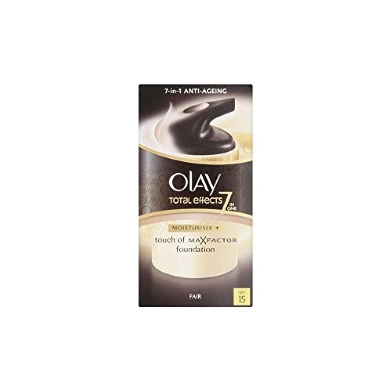 ライブスクレーパー代表Olay Total Effects Moisturiser Bb Cream Spf15 - Fair (50ml) (Pack of 6) - オーレイトータルエフェクト保湿クリーム15 - フェア(50ミリリットル...