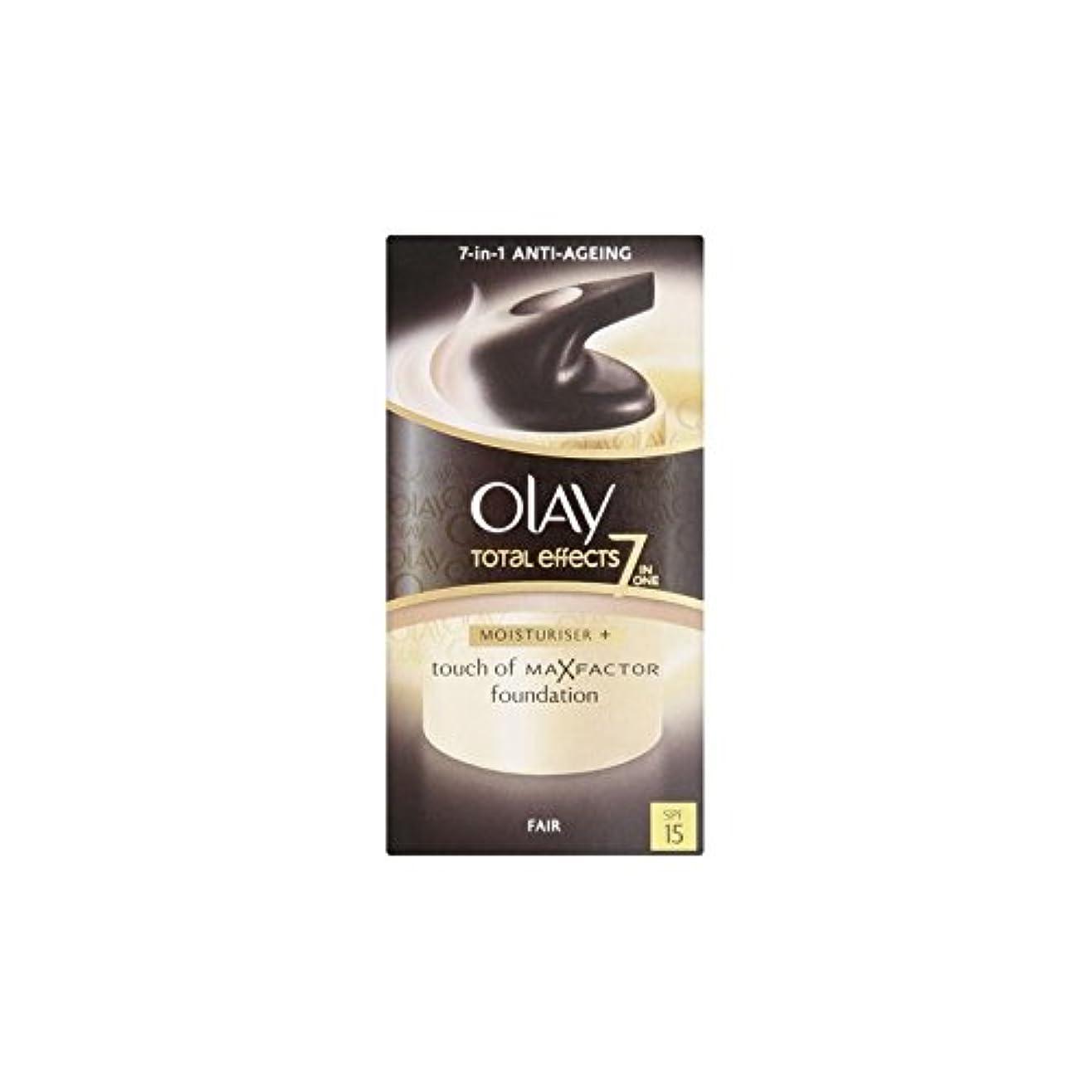 セッション雰囲気花オーレイトータルエフェクト保湿クリーム15 - フェア(50ミリリットル) x4 - Olay Total Effects Moisturiser Bb Cream Spf15 - Fair (50ml) (Pack of...