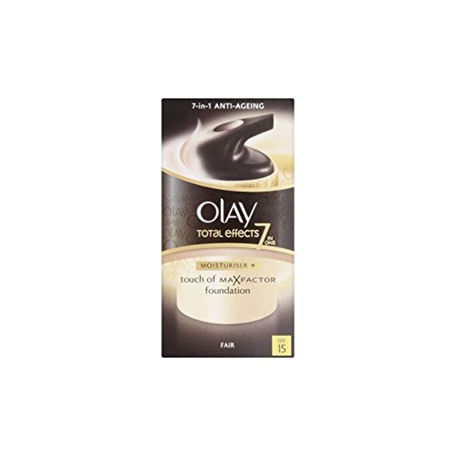 大惨事かび臭い保安オーレイトータルエフェクト保湿クリーム15 - フェア(50ミリリットル) x2 - Olay Total Effects Moisturiser Bb Cream Spf15 - Fair (50ml) (Pack of...
