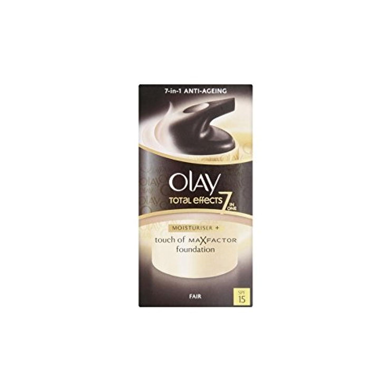 衣服顕著ネーピアオーレイトータルエフェクト保湿クリーム15 - フェア(50ミリリットル) x4 - Olay Total Effects Moisturiser Bb Cream Spf15 - Fair (50ml) (Pack of...