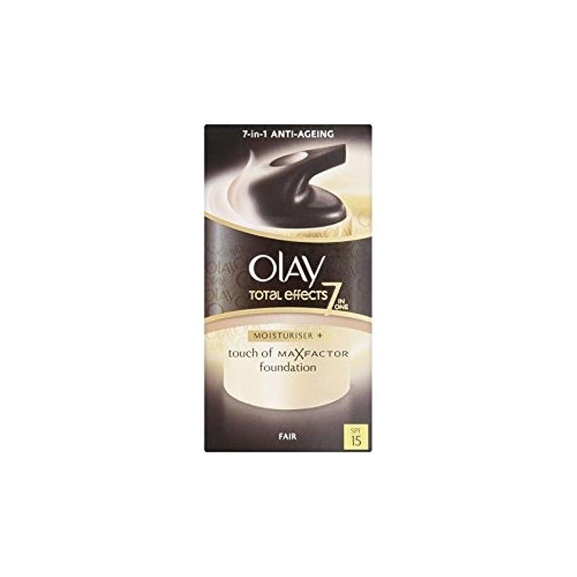 接続詞に記者Olay Total Effects Moisturiser Bb Cream Spf15 - Fair (50ml) (Pack of 6) - オーレイトータルエフェクト保湿クリーム15 - フェア(50ミリリットル...