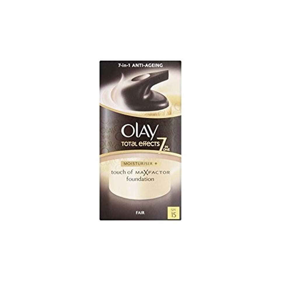 使役曇った気怠いオーレイトータルエフェクト保湿クリーム15 - フェア(50ミリリットル) x2 - Olay Total Effects Moisturiser Bb Cream Spf15 - Fair (50ml) (Pack of...