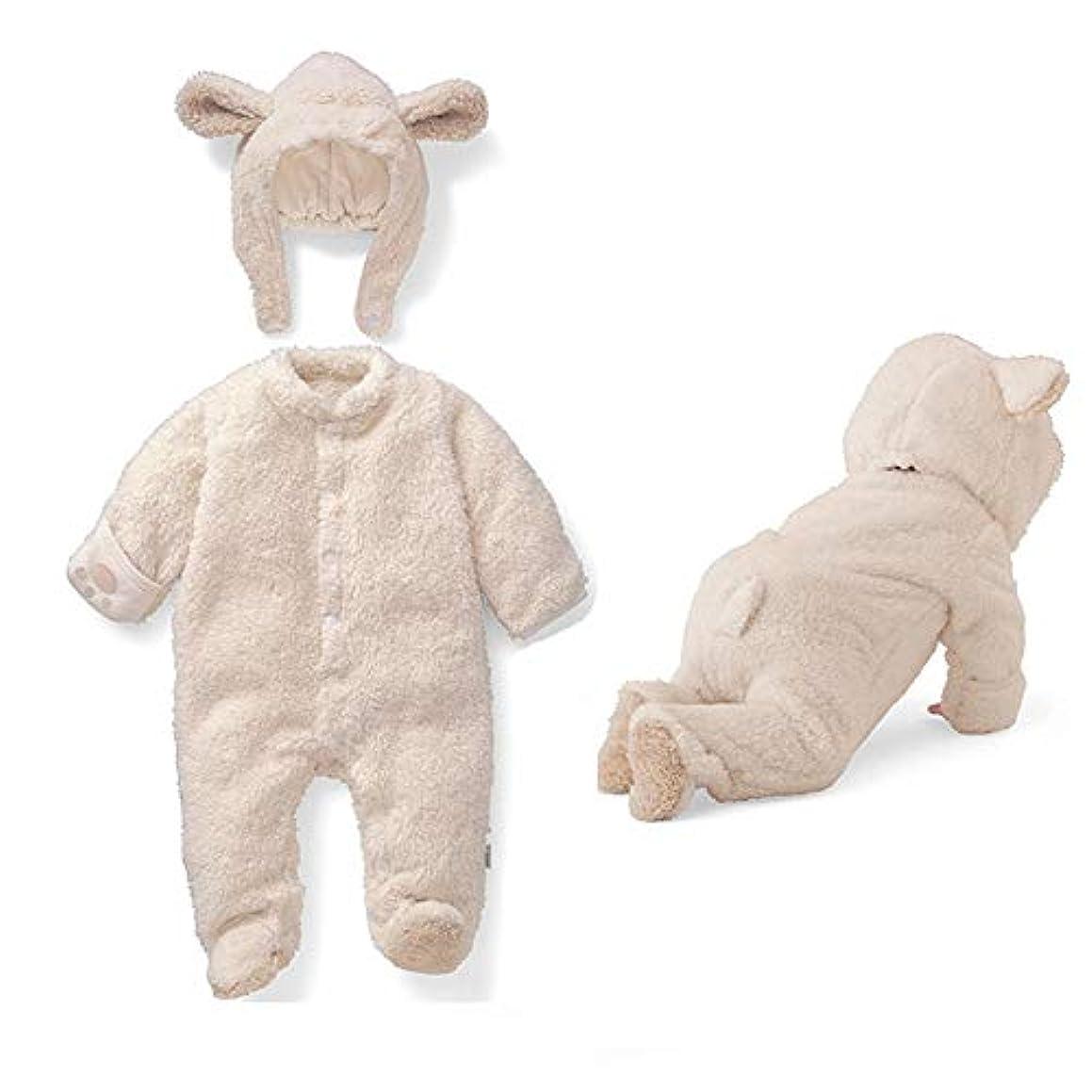 受け継ぐ教育する透けて見えるNeky ベビー 着ぐるみ ロンパース 新生児 パジャマ カバーオール 女の子 男の子 動物 防寒着 コスチューム 73cm