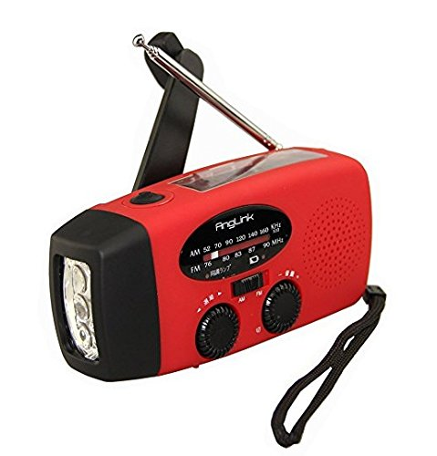 OSIR 懐中電灯 ラジオ 手動充電 太陽光充電 USB充電対応 携帯充電可能 各充電用コネクタ付属