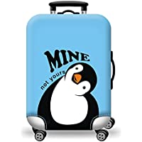 Quner Men's Blue Penguin Elastic Luggage Cover Printing