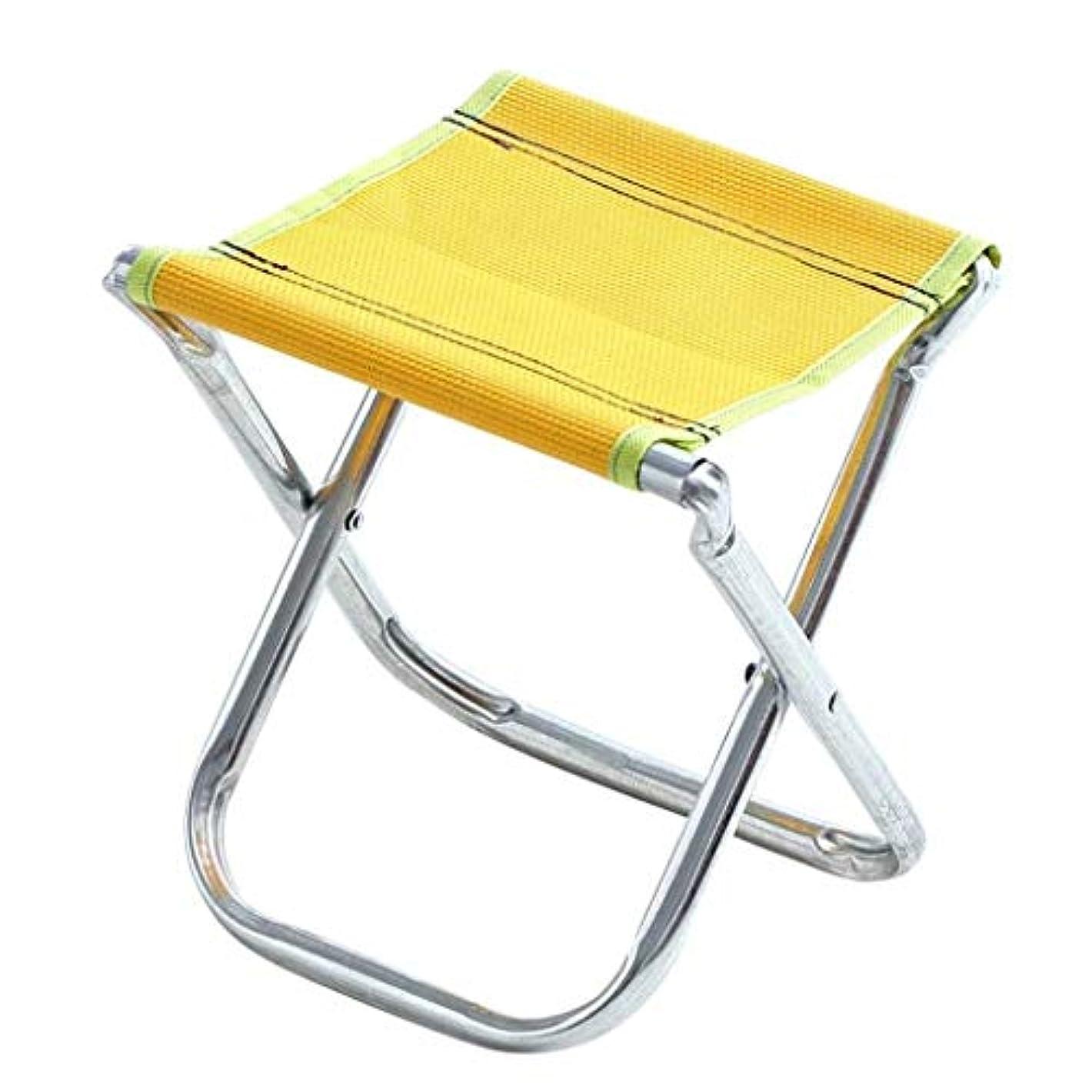 類推可能にする真面目なJXXDDQ 折りたたみスツール、スツールポータブル折りたたみスツール塗装鉄パイプオックスフォード屋外小さな折りたたみ椅子用キャンプ釣りハイキング (Color : Yellow 23.3*20.5*25.5cm)